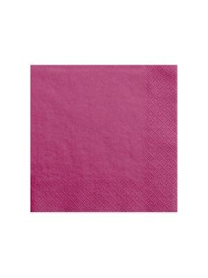 20 gab, Salvetes, tumši rozā, 40 x 40 cm
