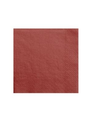 20 gab, Salvetes, sarkanas, 40 x 40 cm