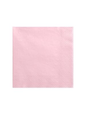 20 gab,  Salvetes, gaiši rozā, 40 x 40 cm