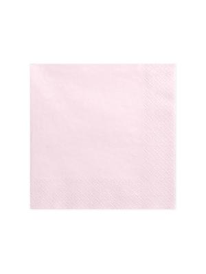 20 gab, Salvetes, gaiša pūdera rozā, 40 x 40 cm