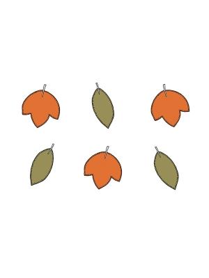6 gab, Papīra dekorācijas Meža kolekcija, lapas