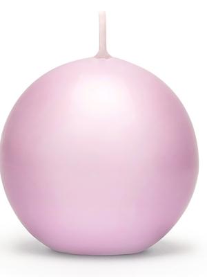 Apaļā svece, matēta, gaiši rozā, 10 cm