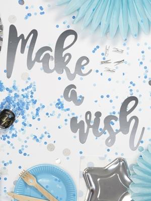 "Baneris ""Make a wish"", 15 cm x 60 cm"