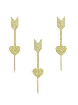 6 gab, Iesmiņi - ultas, zelta, 12.5 cm