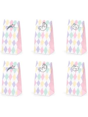 """6 gab, Papīra maisiņi, """"Vienradzis"""", 8 x 18 x 6 cm"""