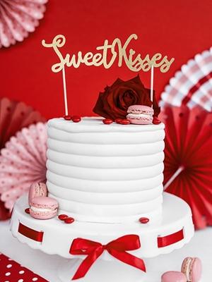 Tortes iesmiņš Salda mīla - saldie skūpsti, 16.5 cm