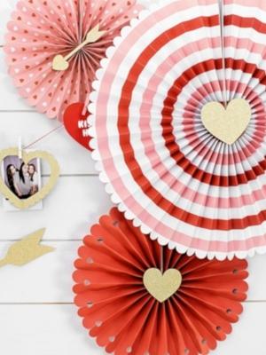 3 gab, Dekoratīvās rozetes Sweet Love, 21, 25, 38 cm