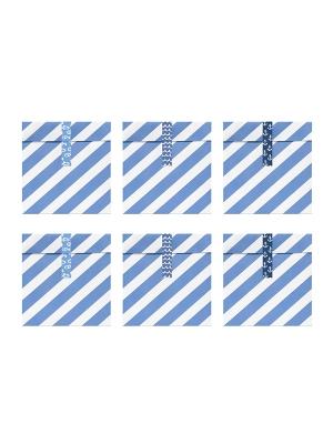 6 gab, Papīra maisiņi Ahoi, 13 x 14 cm