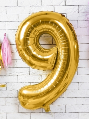 Folija, 9, zelta, 86 cm
