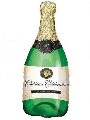 Balons Šampanieša pudele, 35 х 91 cm