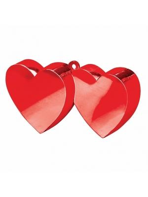 Balonu atsvars, divas sirdis, sarkans, 170 g