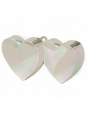 Balonu atsvars, divas sirdis, pērļu krāsa, 170 g