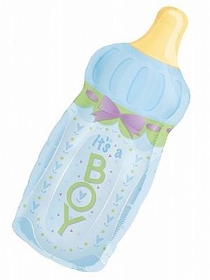 Balons pudelīte, zila, 33 x 78 cm