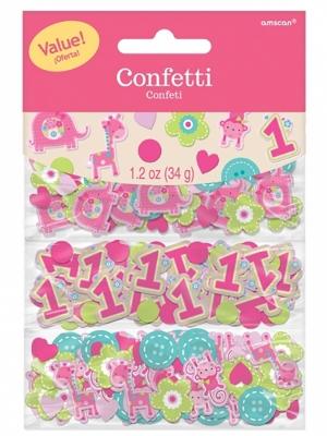 Konfeti 1 Dzimšanas diena, rozā, 34 gr