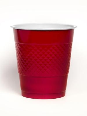 10 gab, Glāzītes, sarkanas, 355 ml.