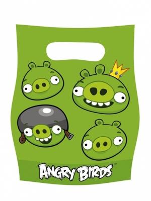 6 gab, Plastikāta maisiņi Angry Birds, 15 x 8.5 cm