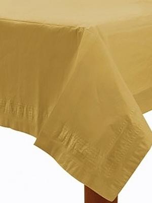 Plastikāta galdauts, zelta, 137 x 274 cm