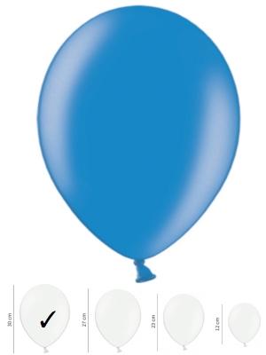 Perlamutra balons, rudzupuķu zils, 30 cm