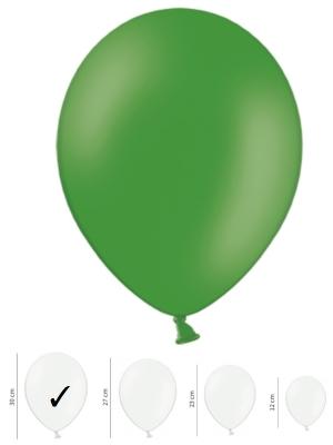 Pasteļtoņu balons, smaragdzaļš, 30 cm