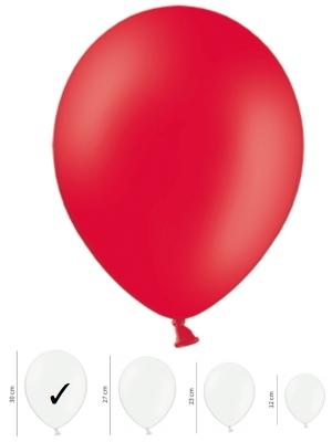 Pasteļtoņu balons, magoņu sarkans, 30 cm