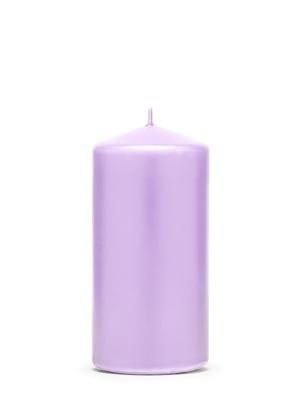 Cilindra svece, matēta, viršu zila, 12 cm х 6 cm
