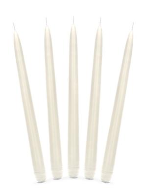 Konusa svece, matēta, gaiša krēmkrāsa, 24 cm