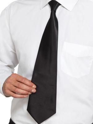 Gangstera kaklasaite, melna