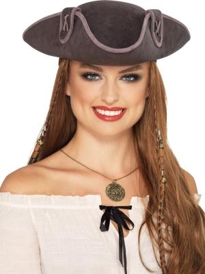 Pirāta kapteiņa cepure, pelēka