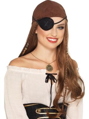 Pirāta acs aizsegs, melns