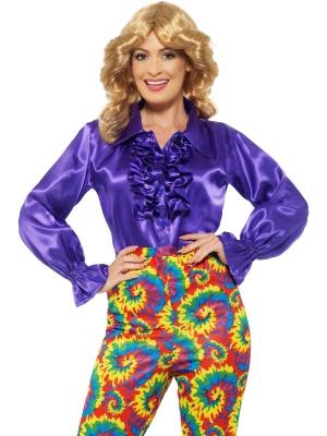 Satīna krekls, violets