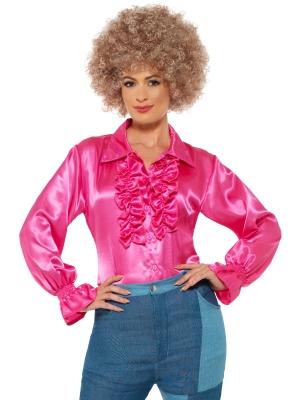 Satīna krekls, rozā