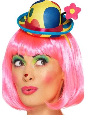 Klauna mini cepure, daudzkrāsaina
