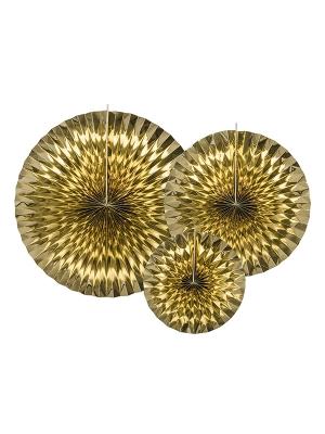3 gab, Dekoratīvās rozetes, zelta, 40, 32, 23 cm