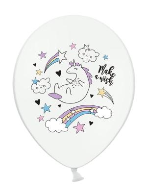 Balons vienradzis, balts, 30 cm
