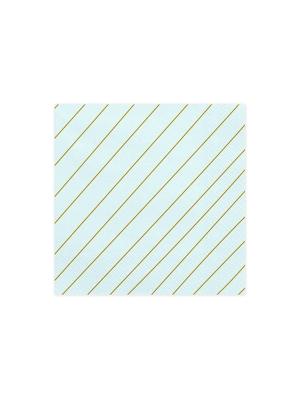 20 gab, Salvetes svītras, gaiši zilas, 33 x 33 cm