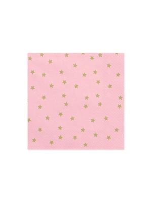 20 gab, Salvetes zvaigznes, gaiši rozā, 33 x 33 cm