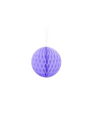 Papīra bumba, ceriņu krāsa, 10 cm
