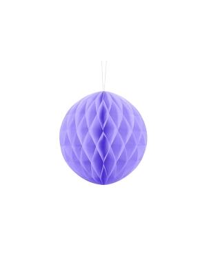 Papīra bumba, ceriņu krāsa, 20 cm