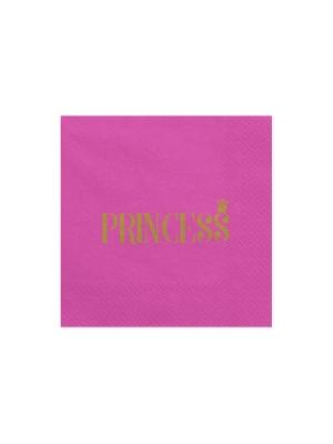 20 gab, Salvetes Princese, tumši rozā , 33 x 33 cm