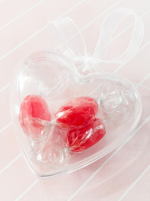3 gab, Dāvanu kastītes Sirds, 6 cm