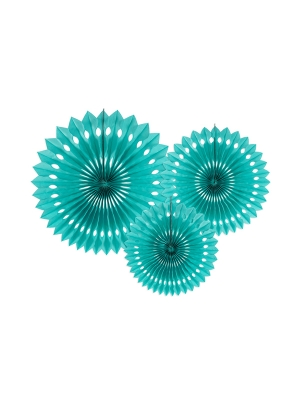 3 gab, Dekoratīvās rozetes, malahītzaļas, 20, 25, 30 cm