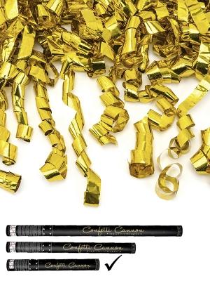 Plaukšķene ar strēmelēm, zelta, 40 cm