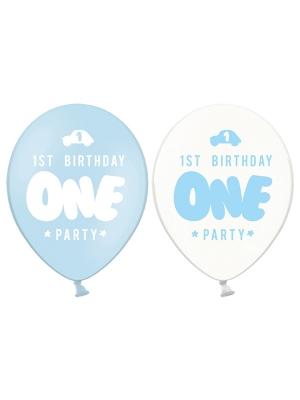 6 gab, Baloni One, gaiši zili, 30 cm