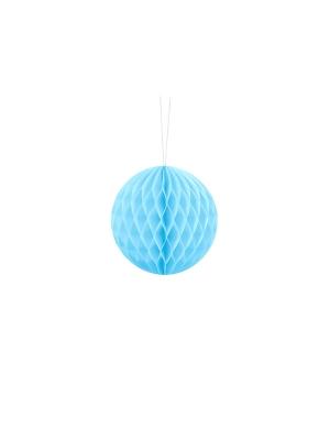 Papīra bumba, gaiši zila, 10 cm