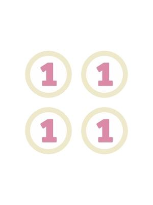 4 gab, Papīra dekorācija 1, balta ar rozā, 5.5 cm