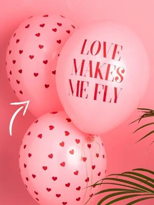 Balons sirsniņas, gaiši rozā ar sarkanu, 30 cm