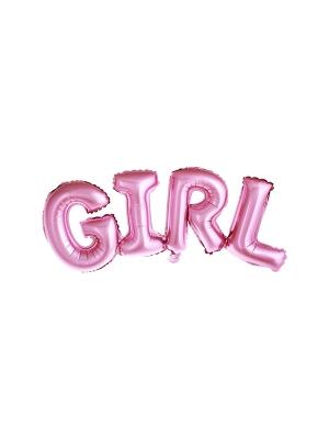 Folijas balons, Girl, rozā, 74 x 33 cm
