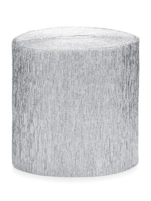 4 gab, Kreppapīra ruļļi, sudraba, 5 cm x 10 m