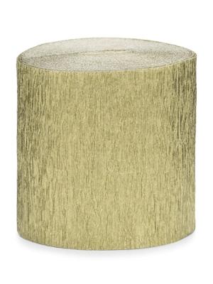4 gab, Kreppapīra ruļļi, zelta, 5 cm x 10 m