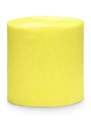 4 gab, Kreppapīra ruļļi, dzelteni, 5 cm x 10 m